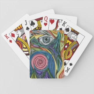 カードを遊ぶDe Rose Deckの抽象美術 トランプ
