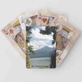 カードを遊ぶMt. Thielsenオレゴン バイスクルトランプ