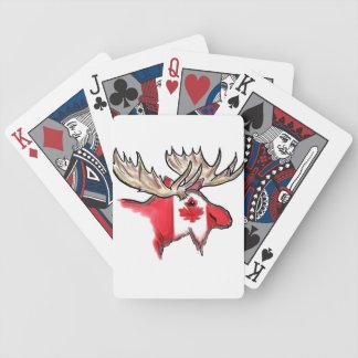 カードを遊んでいるカナダのプライドのカナダの旗のオオシカ バイスクルトランプ