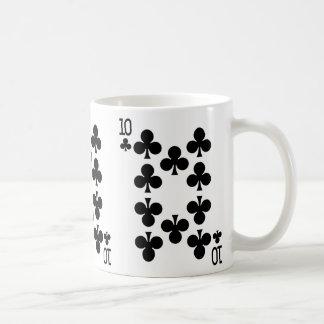 カードを遊んでいるクラブの10 コーヒーマグカップ