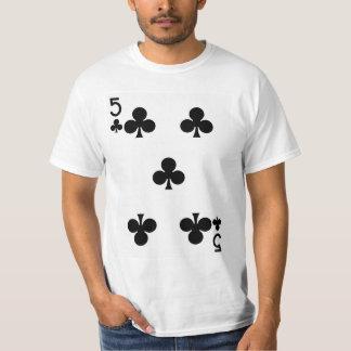 カードを遊んでいるクラブの5 Tシャツ
