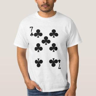 カードを遊んでいるクラブの7 Tシャツ