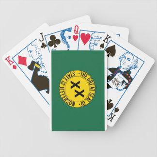 カードを遊んでいるジェファーソンの州 バイスクルトランプ