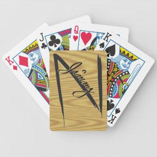 カードを遊んでいるジミーZ バイスクルトランプ