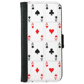 カードを遊んでいるフランス語。 賭けること iPhone 6/6S ウォレットケース