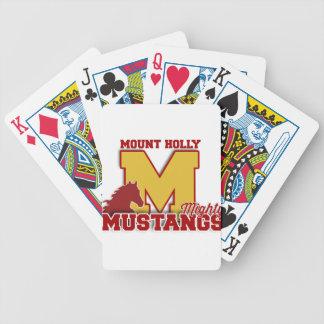 カードを遊んでいるムスタング バイスクルトランプ