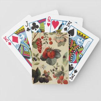 カードを遊んでいる果実の果実 バイスクルトランプ