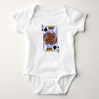 カードを遊んでいる王 ベビーボディスーツ