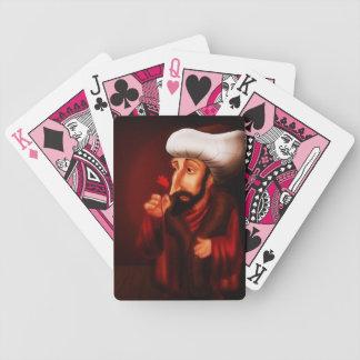 カードを遊んでいるFatihのサルタンメフメット バイスクルトランプ
