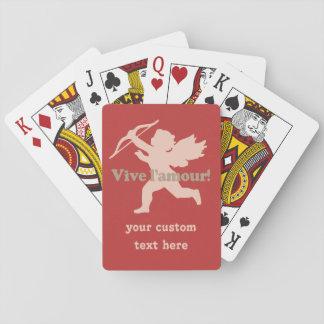 カードを遊んでいるVive L'amourのキューピッド トランプ