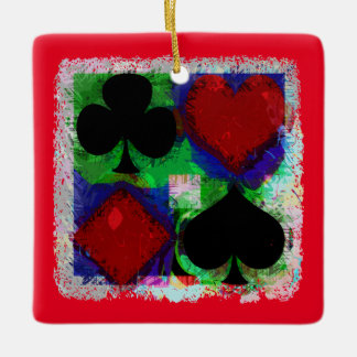 カードスーツのデザインを遊ぶこと セラミックオーナメント