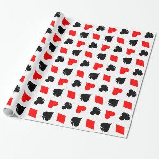 カードスーツの包装紙を遊ぶトランプのポーカー ラッピングペーパー
