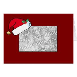 カードテンプレート-サンタの帽子のボーダー カード