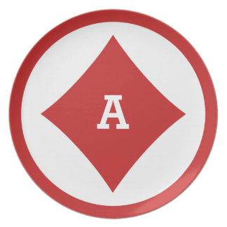 カードプレーヤーのカスタムなモノグラムのプレート-ダイヤモンド プレート