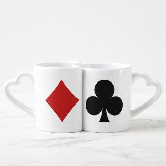 カードプレーヤーのカップルのマグ ペアカップ