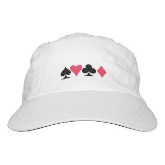 カードプレーヤーの白い帽子 ヘッドスウェットハット
