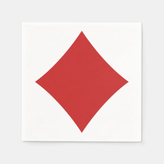 カードプレーヤーの紙ナプキン-ダイヤモンド スタンダードカクテルナプキン
