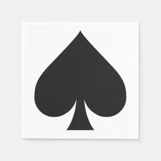 カードプレーヤーの紙ナプキン-踏鋤 スタンダードカクテルナプキン