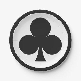 カードプレーヤーの紙皿-クラブ 紙皿 小