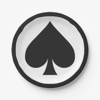 カードプレーヤーの紙皿-踏鋤 ペーパープレート スモール