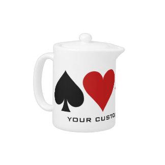 カードプレーヤーの習慣のティーポット