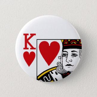 カードボタンのバッジを遊んでいるOf Hearts王 缶バッジ