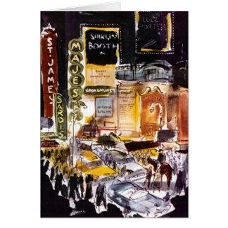 カード劇場地区のニューヨークシティNYCのブロードウェイ カード