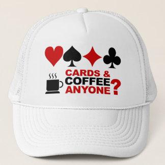 カード及びコーヒー帽子 キャップ