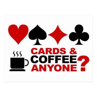 カード及びコーヒー郵便はがき ポストカード