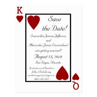 カード王または女王の保存を遊びます日付の郵便はがき ポストカード