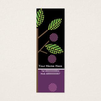カード細い木およびフルーツビジネス スキニー名刺