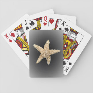 カード黒い背景を遊んでいるヒトデ トランプ