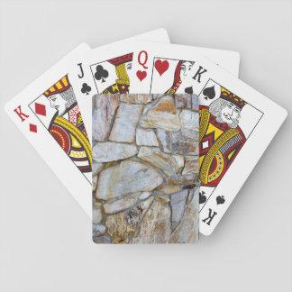 カード・ストックトランプの石の壁の質の写真 トランプ
