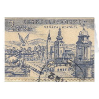 カード: 取り消されたCzechoslovakian郵便料金 グリーティングカード