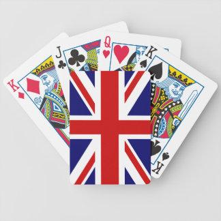 カード|英国国旗の設計を遊ぶイギリスの旗 バイスクルトランプ