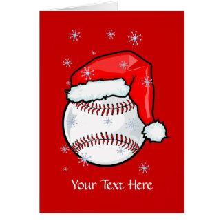 カード-野球のクリスマス カード