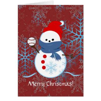 カード-雪だるまの野球 カード
