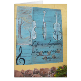 カード: 音楽、Mplsのシナノキの丘の家。、MN カード