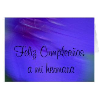 カード- Feliz Cumpleaños miのhermana カード