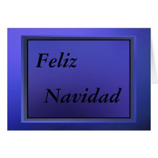カード- Feliz Navidad - Azul カード