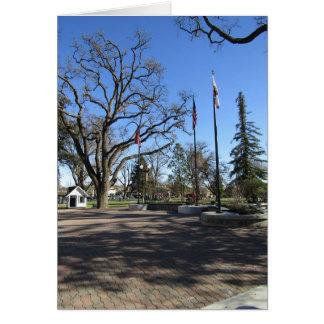カード:  Paso Robles都心の都市公園への入口 カード
