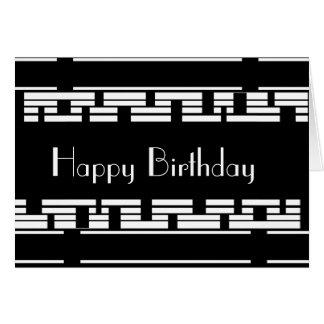 カードDecoの白黒の誕生日の男性 カード