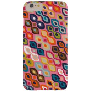カーニバルのイカットのピンク BARELY THERE iPhone 6 PLUS ケース