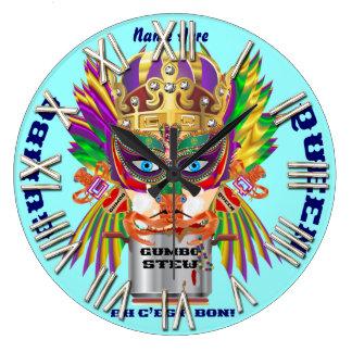 カーニバルのオクラの女王の意見は暗示します ラージ壁時計