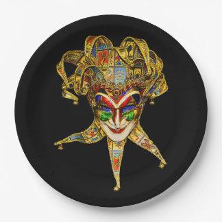 カーニバルのキャラクターの謝肉祭のパーティーの紙皿 ペーパープレート