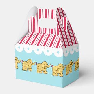 カーニバルのサーカス象の誕生会の好意箱 フェイバーボックス