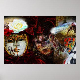 カーニバルのマスクのグループ ポスター