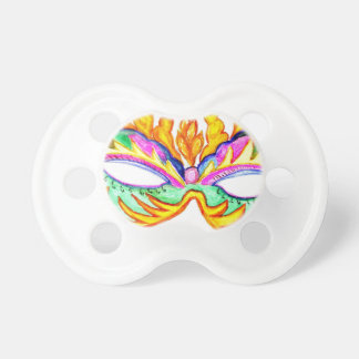 カーニバルのマスクの水彩画 おしゃぶり