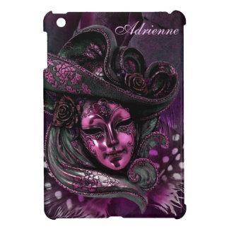 カーニバルのマスクピンクのダマスク織のiPad Miniケース iPad Miniケース