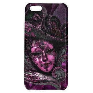 カーニバルのマスクピンクのダマスク織のiPhone 5の場合 iPhone 5C カバー